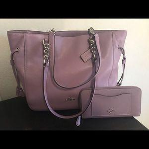 Coach shoulder bag and wallet